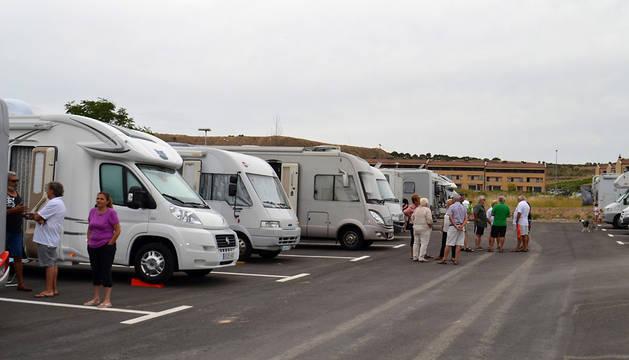 Zona de autocaravanas en Viana.
