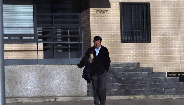 Jaume Matas, en su entrada a prisión.