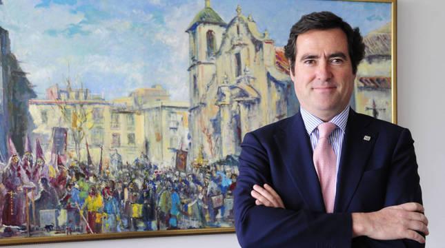 Antonio Garamendi, candidato a la presidencia de la CEOE.
