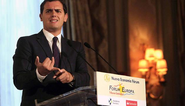 El líder de C's, Albert Rivera, en una conferencia el pasado 3 de noviembre