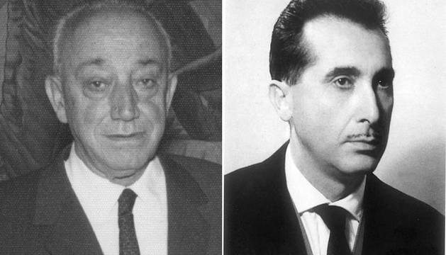 Féliz Huarte (izda.) y Miguel Javier Urmeneta