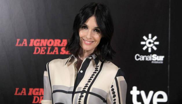 Paz Vega, durante la presentación de la película