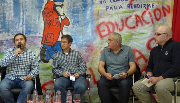Javier Couso, Alberto Araiz, Javier Arizaleta y Juan Andrés Pastor