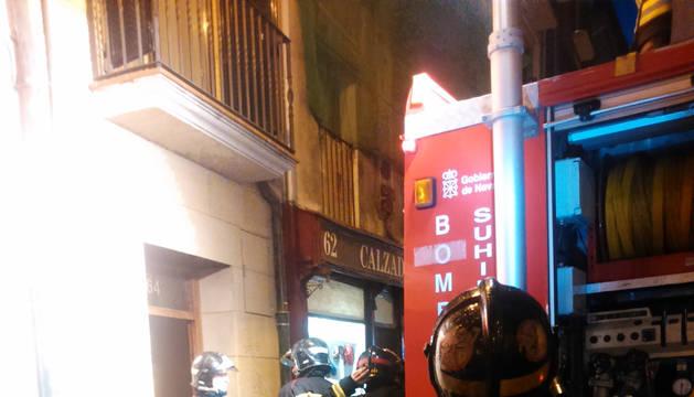 Incendio en un inmueble en la calle San Nicolás