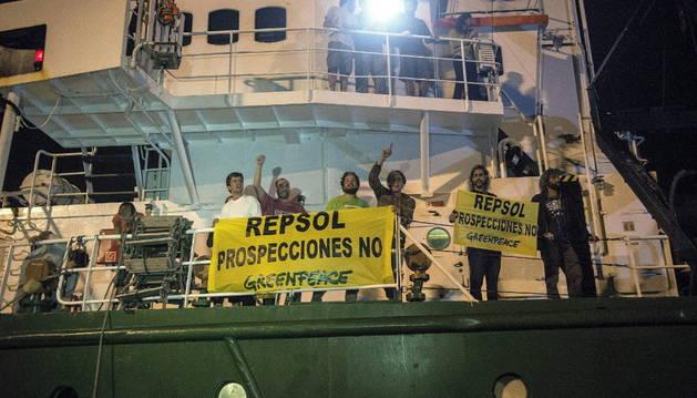 Retenido el barco Arctic Sunrise de Greenpace en el puerto de Arrecife