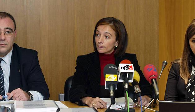 Josetxo Andía, Carolina Potau y Estefanía Clavero