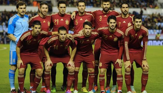 Alineación de España contra Alemania