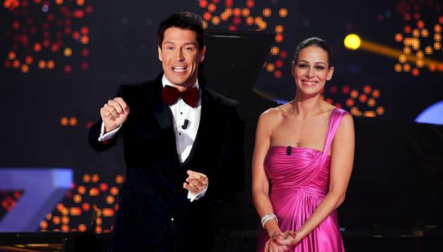 Jaime Cantizano y Eva González.