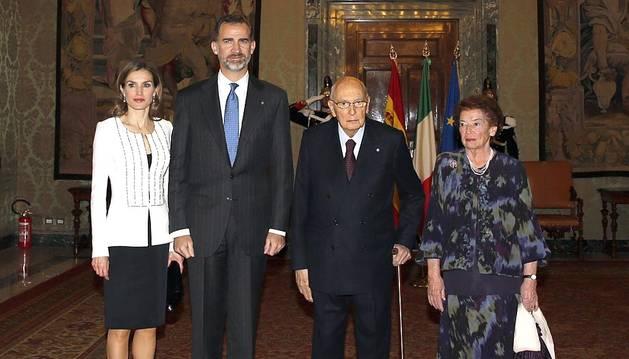 Los Reyes realizan este miércoles una visita oficial a Roma durante la cual se reunirán con varias personalidades.
