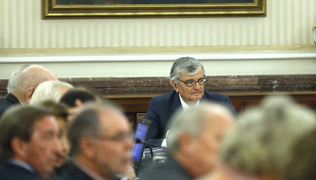 El fiscal general del Estado, Eduardo Torres-Dulce, al inicio de la reunión de la Junta de Fiscales de Sala