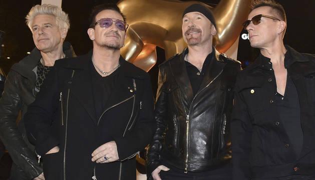 U2, en la entrega de los premios Bambi.