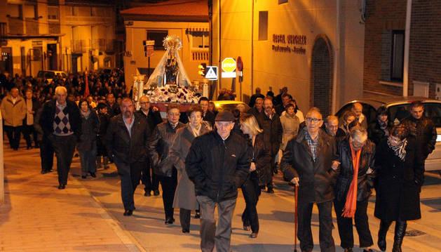 La tradicional procesión de La Bajadica de la Virgen del Patrocinio de Milagro