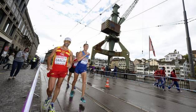 Jesús Ángel García en la prueba de 50 km marcha de los Europeos