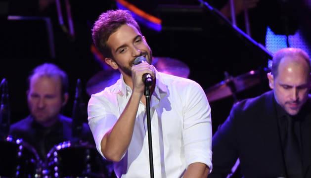 Pablo Alborán, en la gala de los Grammy Latinos.