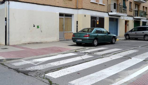Detalle del estado actual de la calle San Gregorio de Lodosa.
