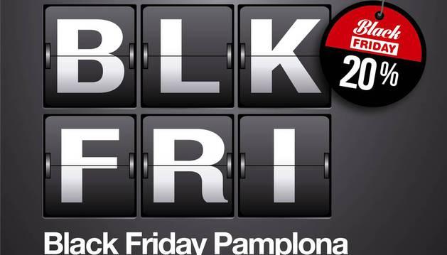 Anuncio del primer 'Black Friday Pamplona'.
