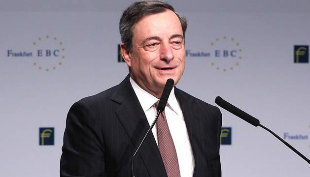 Mario Draghi, en el congreso de banca European Banking Congress.