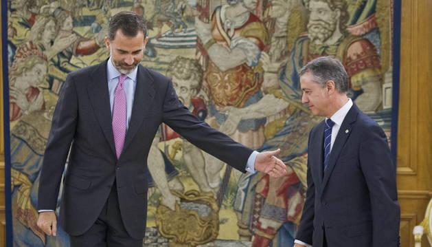 Urkullu defiende ante el Rey el diálogo para acordar nuevo modelo de Estado
