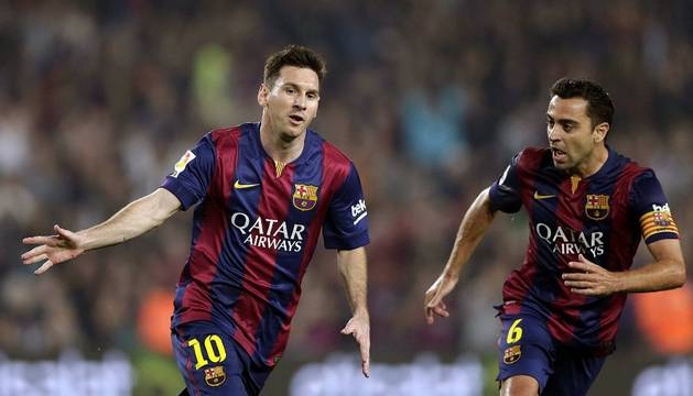 Messi celebra su gol 251 en Liga