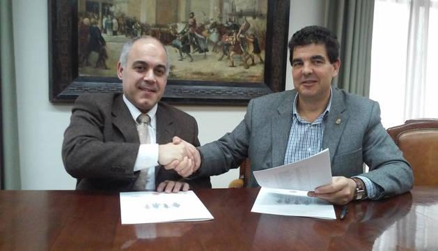De izda. a dcha., Eradio Ezpeleta y Luis Casado.