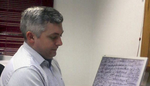 El archivero e historiador Francisco Javier Escudero