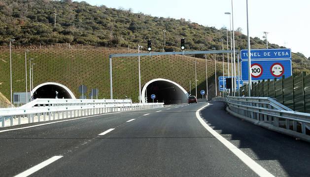 Imagen de un tramo de la Autovía de Pamplona a Jaca