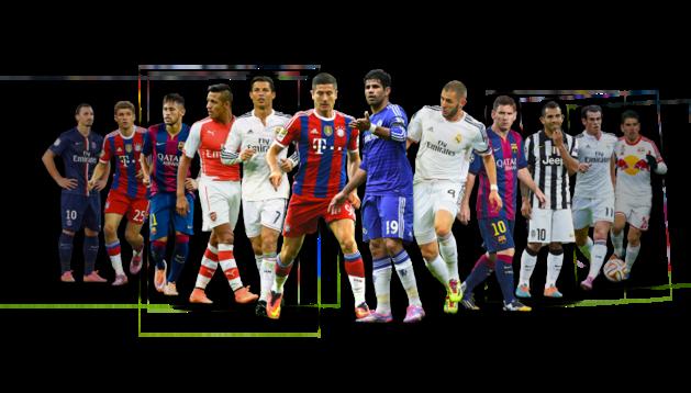 Los delanteros nominados del once UEFA