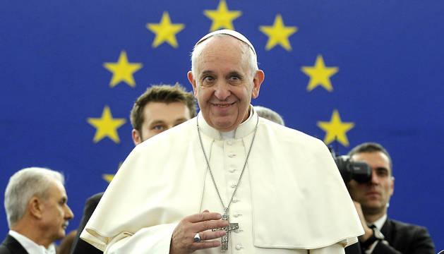 El papa Francisco, en el Parlamento Europeo.