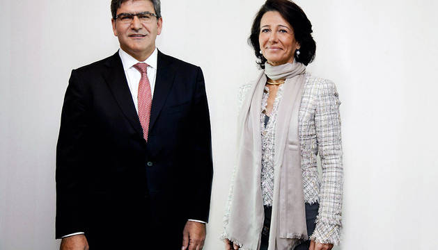 Fotografía cedida por el Banco Santander de Ana Patricia Botín y José Antonio Álvarez