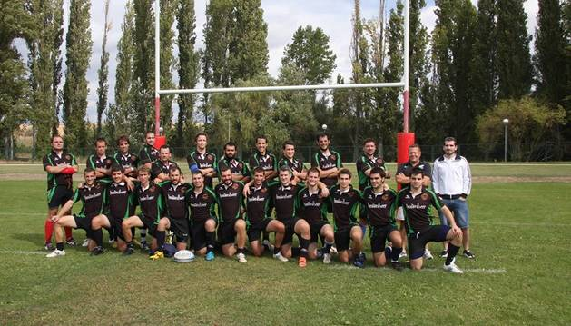 La plantilla del Iruña Rugby Club