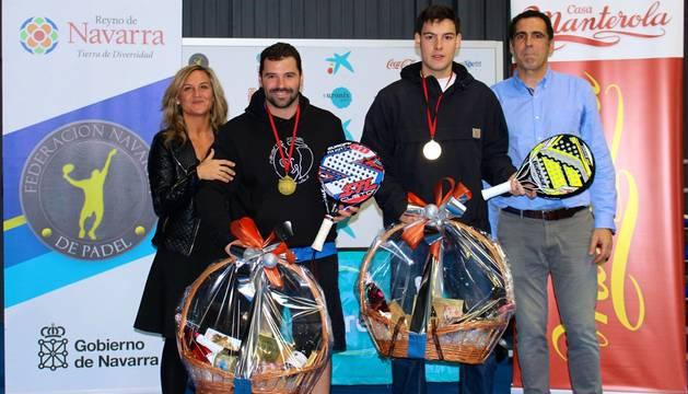 Zaratiegui-Santos, campeones navarros 2014