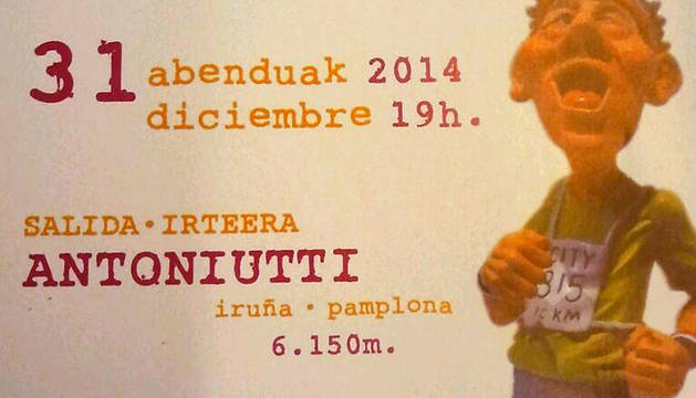 Cartel de la San Silvestre de Pamplona 2014.