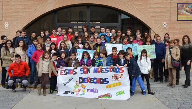 Ayuntamiento y colegios, por Unicef en Mendavia