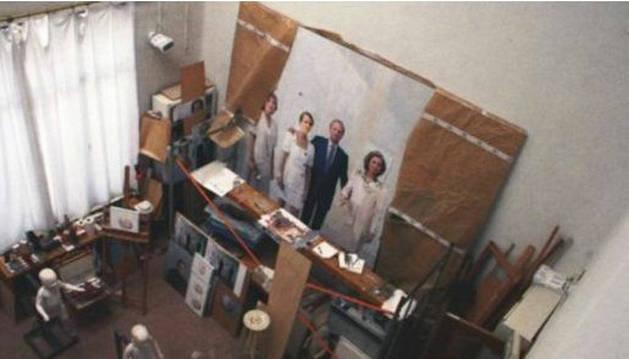 La familia real de Antonio López, en una exposición