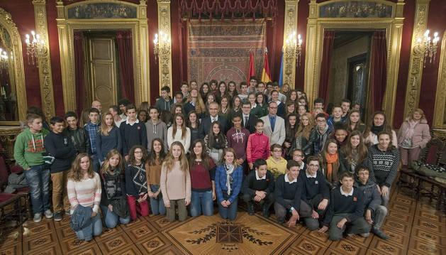 Estudiantes navarros, de intercambio en Aquitania (Francia)