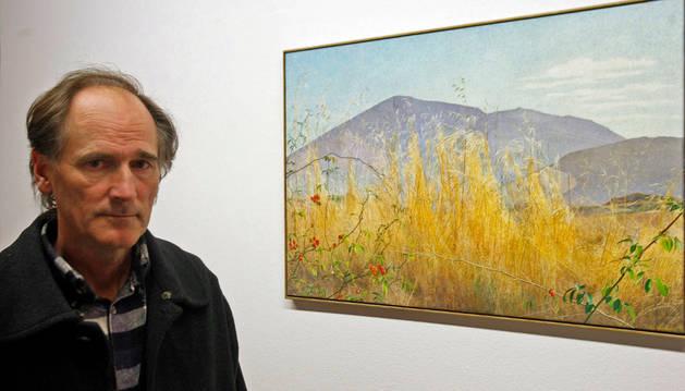 Luis Garrido presenta sus paisajes de Valdizarbe en la Ciudadela