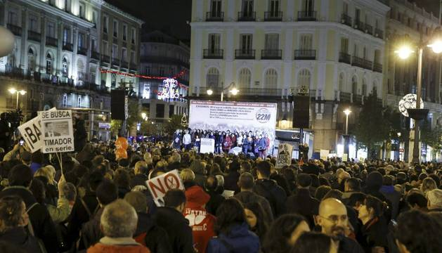 Las movilizaciones, en Madrid