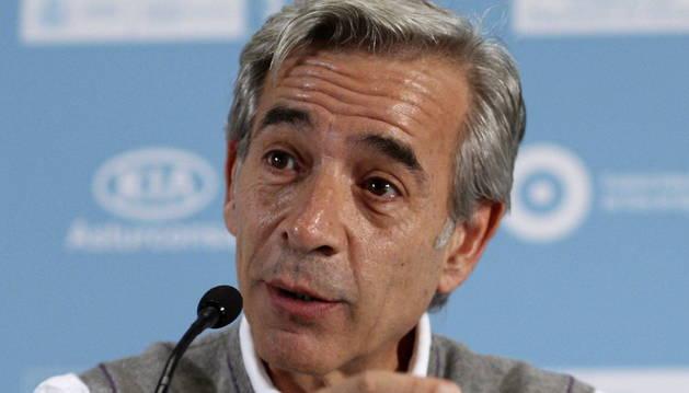 El actor Imanol Arias durante la rueda de prensa en el Festival Internacional de Cine de Gijón.