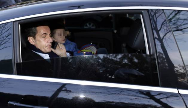 Sarkozy, este sábado, antes de votar