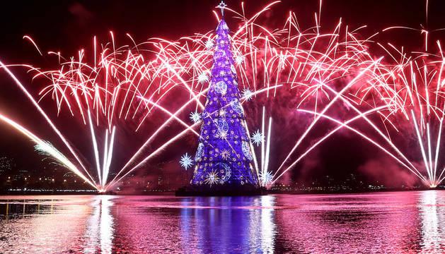 El árbol de Navidad más grande del mundo, en Río de Janeiro