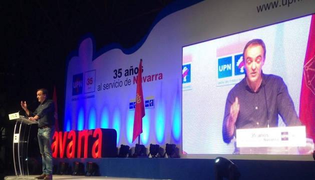 Esparza interviene en el Día de UPN en Navarra.