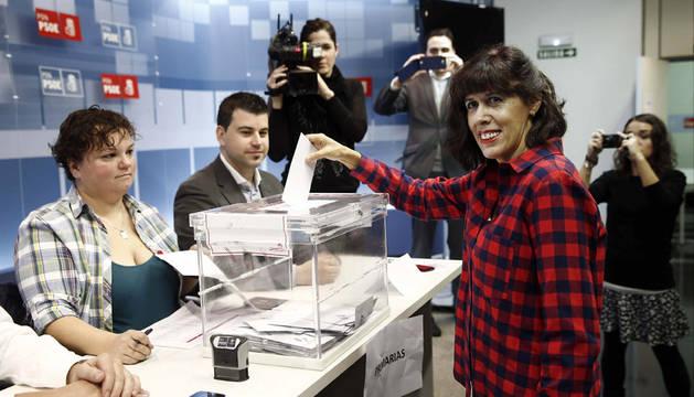 Esporrín vota en las primarias de Pamplona