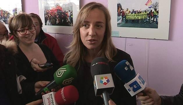 Tania Sánchez, tras votar este domingo