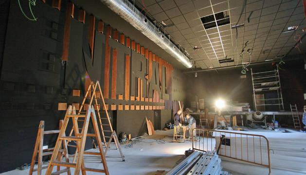 Obras en el Zentral Café Teatro.