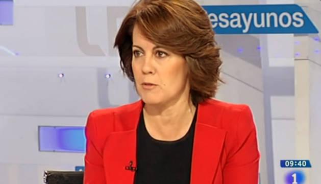 Barcina, durante la entrevista en los Desayunos de RTVE