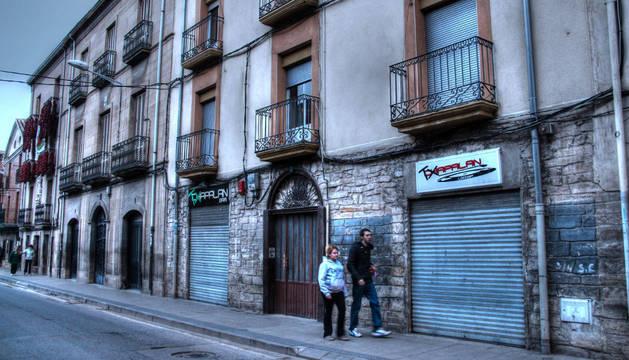 La discoteca Txapalan, en el exterior junto al bar de ese nombre.
