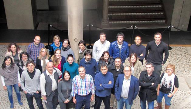 Trabajadores del centro de la UNED de Tudela, que ha recibido el Premio Navarro a la Excelencia.