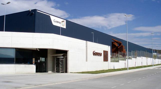 Exterior de la planta de Gamesa en Aoiz