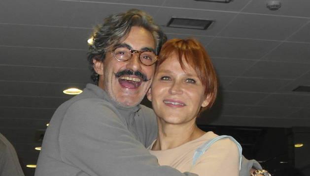 La actriz Antonia San Juan, junto a Miki Molina