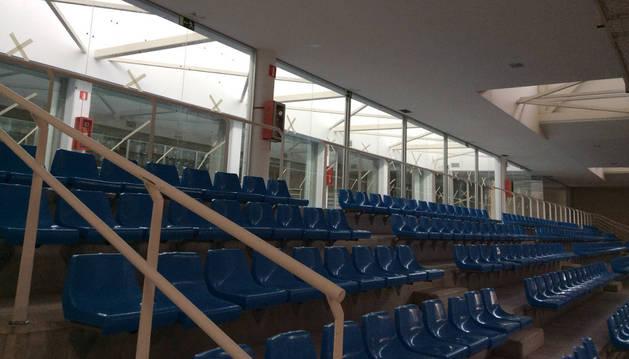 Las nuevas zonas de gimnasio se ubicarán en la parte acristalada tras las gradas